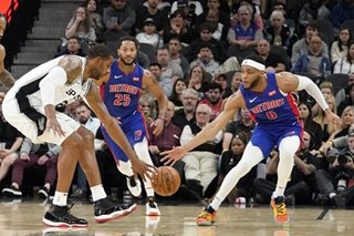 NBA: Spurs throttle Pistons, avenge earlier loss
