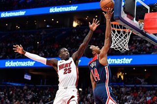 NBA: Wizards surprise Heat, as Miami winning streak snapped