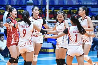 NCAA: San Beda downs San Sebastian, marches to women's volleyball Final 4