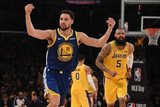 NBA: Thompson's record-setting shooting carries Warriors