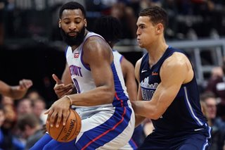 NBA: Drummond, Pistons slip past short-handed Mavs