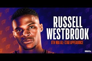 NBA: Westbrook heads NBA All-Star reserves