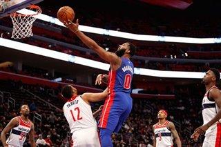 NBA: Drummond scores 32 as Pistons top Wizards