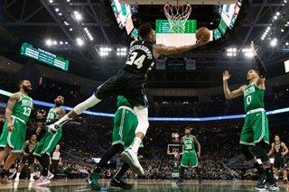 NBA: Giannis scores 30 as Bucks edge Celtics
