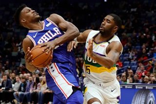 NBA: 76ers barely hold off Pelicans