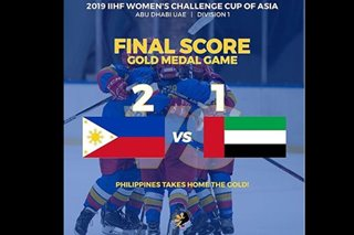 PH team claims gold in Women's Challenge Cup Asia