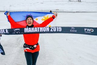 Pinay triathlete clinches top placing in marathon near North Pole