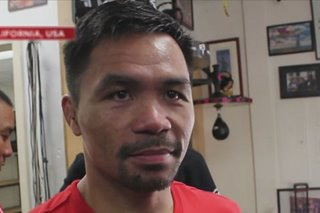 Pacquiao puspusan ang training sa Amerika para sa laban vs Thurman