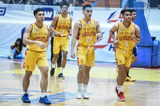 NCAA: San Sebastian earns share of lead by routing Mapua