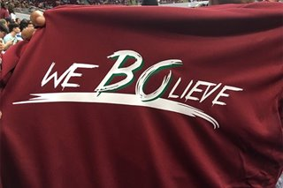 LOOK: UP Fighting Maroons still 'Bo-lieve'