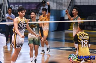 UAAP: FEU-Diliman improves to 7-0 in boys' volleyball