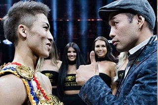 Naoya Inoue lets Donaire borrow the trophy for a night for his sons