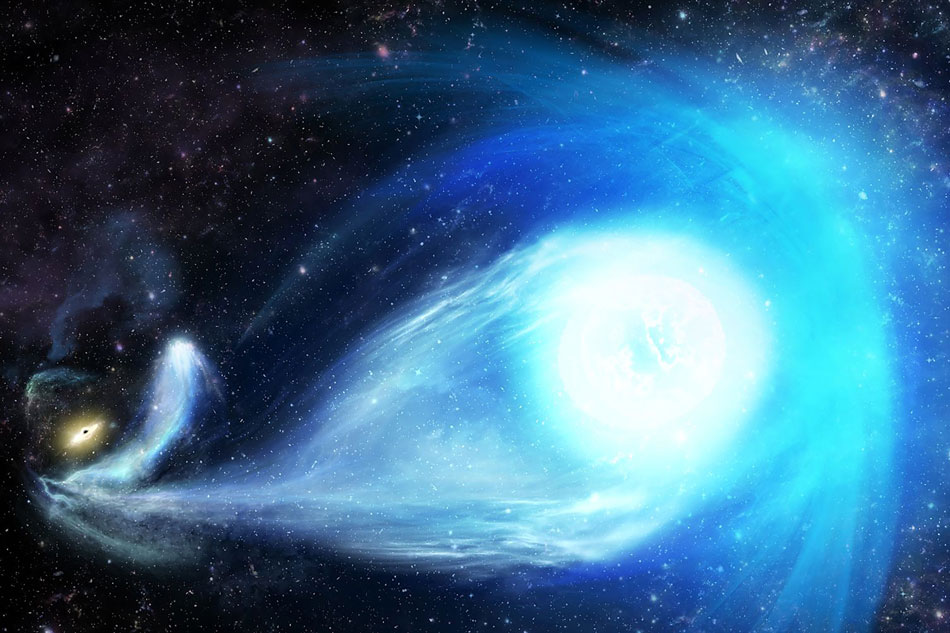 Black hole throws massive star bigger than our sun out of the Milky Way galaxy