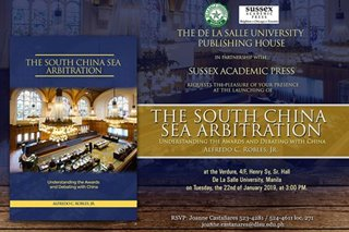 DLSU, Sussex Academic Press to launch new book on South China Sea
