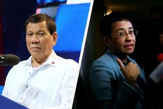 Duterte washes hands of Ressa's cyber libel case