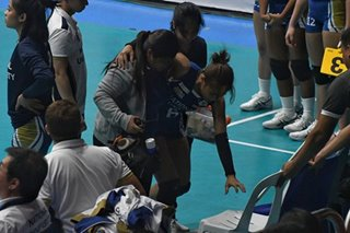 NU's Cagande suffers knee injury in first UAAP game