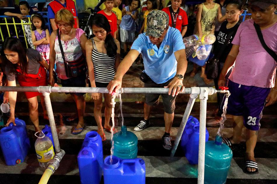 Water refill as taps run dry