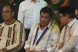 'My happiness is real': Duterte grateful for creation of Bangsamoro region