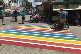 TINGNAN: Pride pedestrian lane sa Iloilo