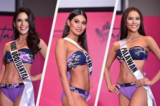 IN PHOTOS: Bb. Pilipinas 2019 candidates in swimsuit