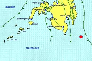Afternoon M-5.3 quake jolts Davao Occidental on Good Friday