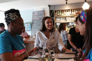 US Rep. Ocasio-Cortez returns to bartending to promote fair wages