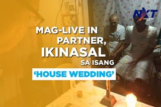 Mag-live in partner, ikinasal sa isang 'house wedding' sa Cebu