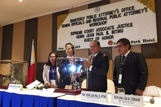 PAO honors first public attorney appointed SC justice