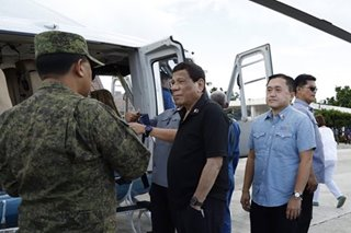 Duterte conducts aerial inspection of quake-hit areas in Batanes