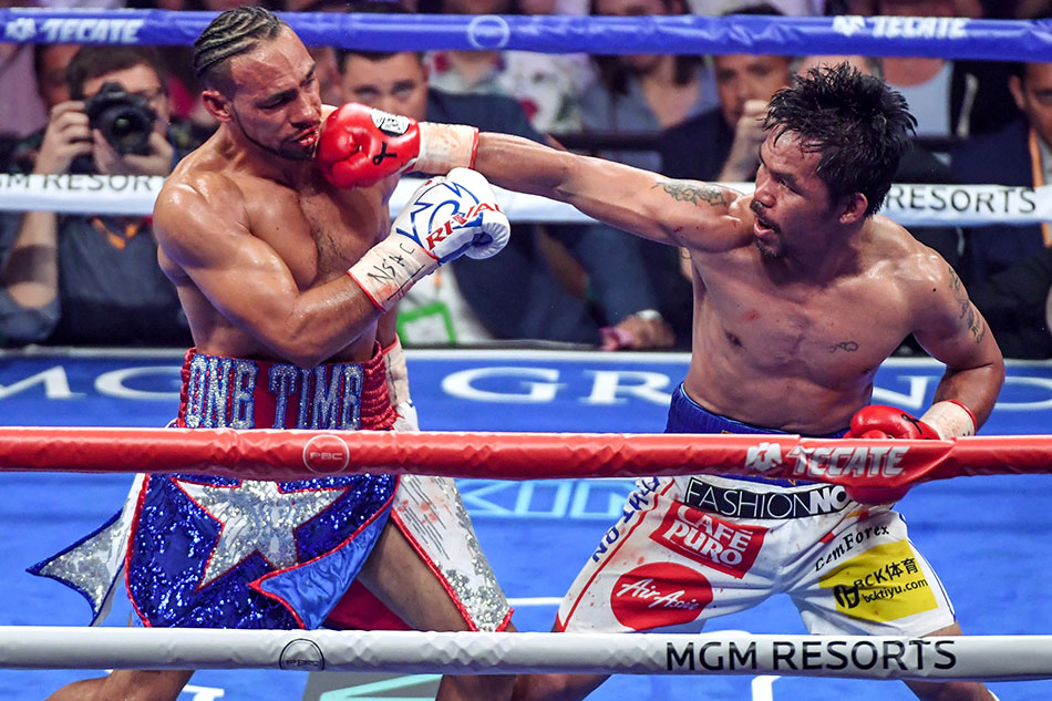 Pacquiao shorts vs Thurman sells for P1.27 million at charity auction