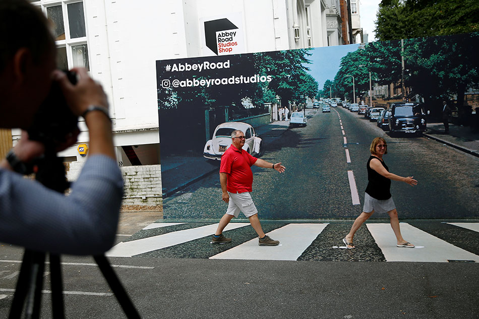 Fans Recreate 'Abbey Road' Cover Shot on 50th Anniversary