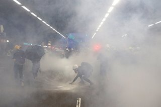 Hong Kong police fire tear gas during another weekend of protests