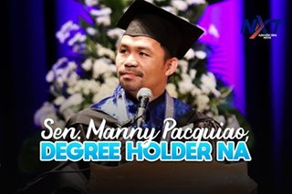 Sen. Manny Pacquiao, degree holder na