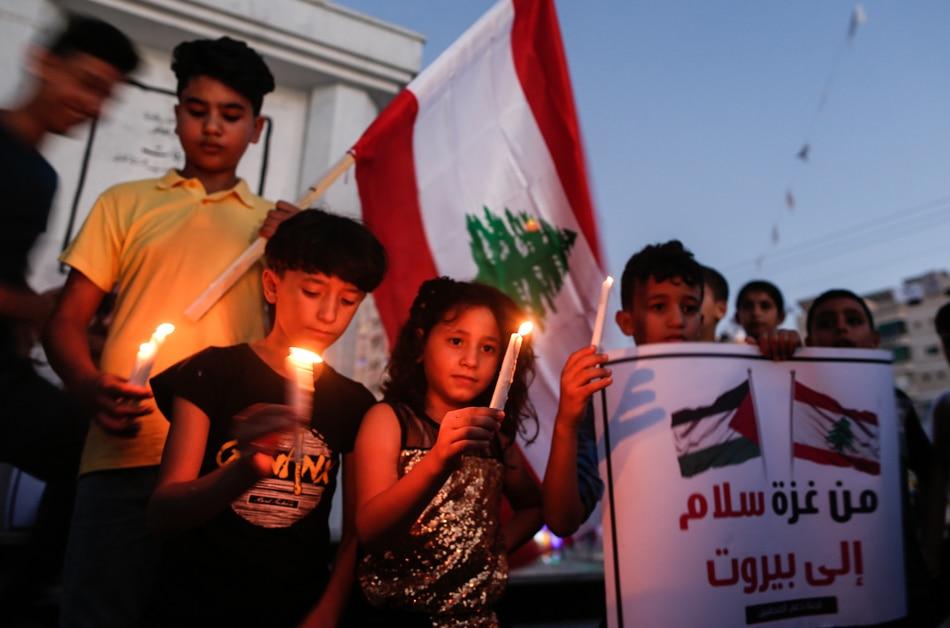 Palestinians in solidarity over Beirut blast