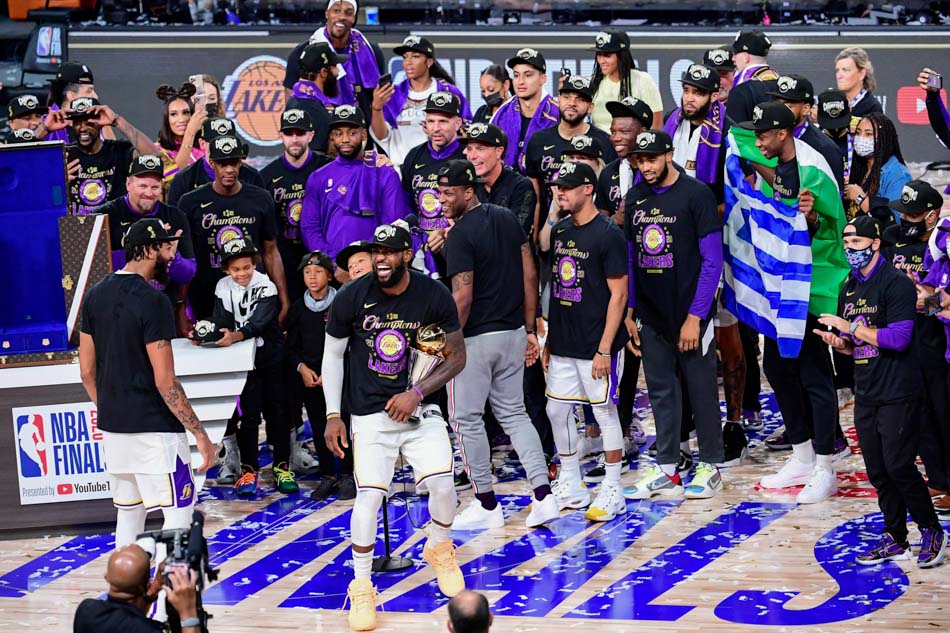 LA Lakers win 2020 NBA Championship