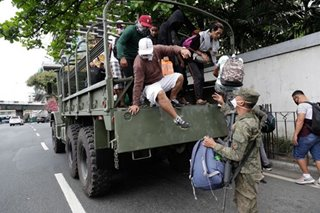Military gives free rides to workers