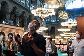 Eid al-Adha prayer at the Hagia Sophia