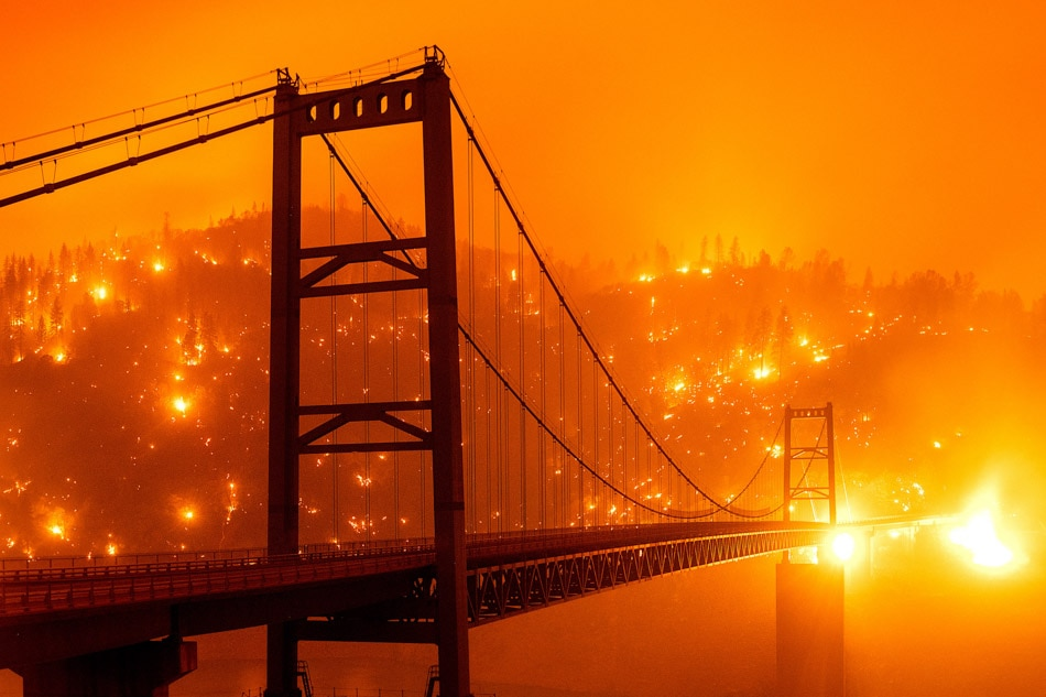 California wildfires turn skies orange