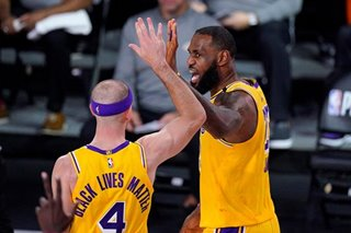 NBA: Lakers down Rockets in Game 4, as West finals berth looms