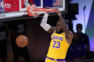 NBA: Emphatic win for LeBron, Lakers to start West finals