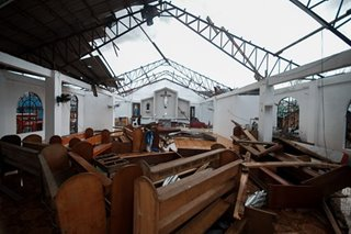 Rolly destroys church in Malinao, Albay