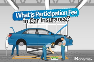 What is 'participation fee' in car insurance?