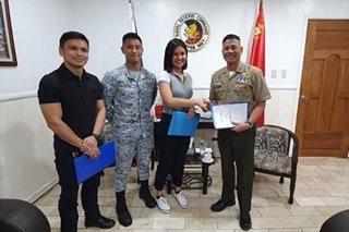 Winwyn Marquez signs up for military training