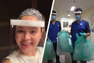 WATCH: Judy Ann Santos sends DIY face shields for coronavirus frontliners