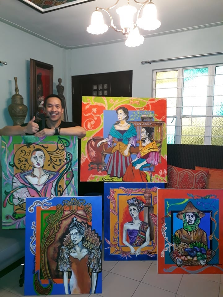 Cruise performer Reuben Laurente rediscovers painting during quarantine 4