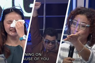 'Feel bad today, it's okay': Tawag judges, hosts comfort tearful contestant after 'gong' elimination