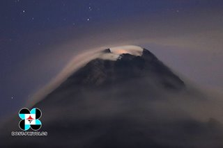 Phivolcs: 'Crater glow' observed at Mayon, alert level 2 remains
