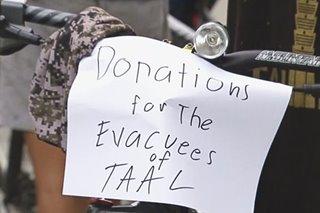 Iba't-ibang grupo, nagbigay ayuda sa mga apektado ng pagsabog ng Taal