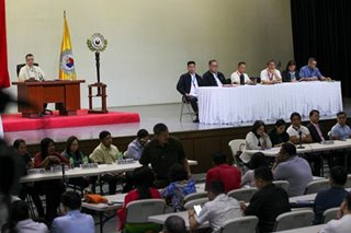 Congressmen listen to Taal victims in Batangas plenary session