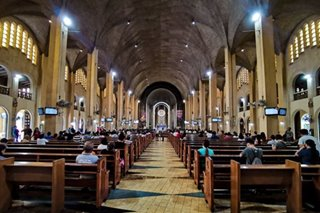 LOOK: Fewer people attend Baclaran novena amid COVID-19 scare